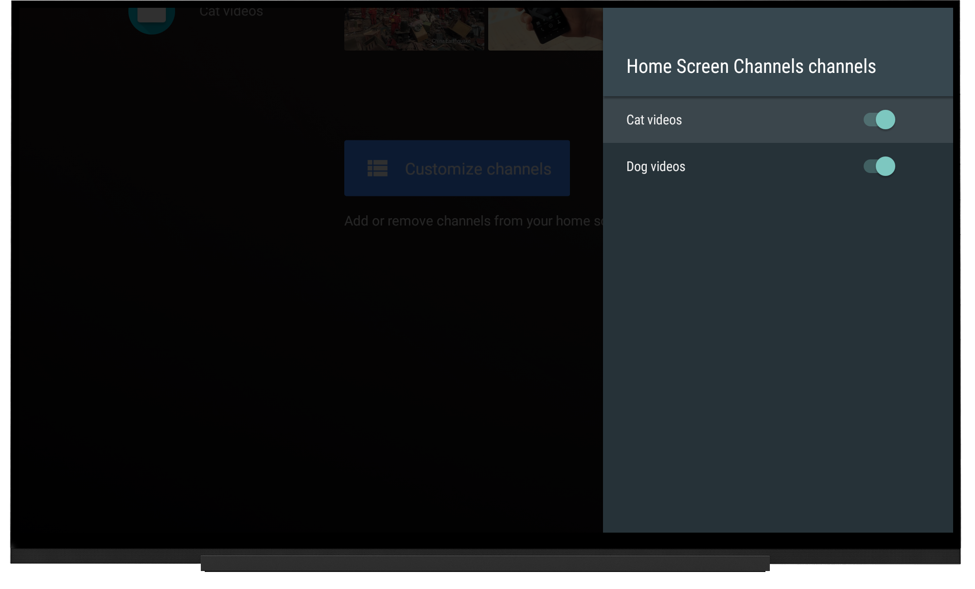 GitHub - googlesamples/leanback-homescreen-channels: A sample that