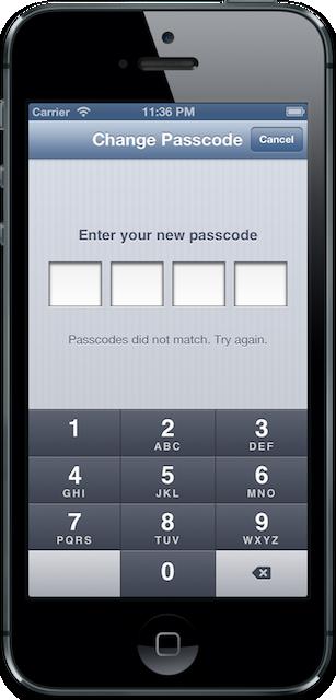Change Passcode