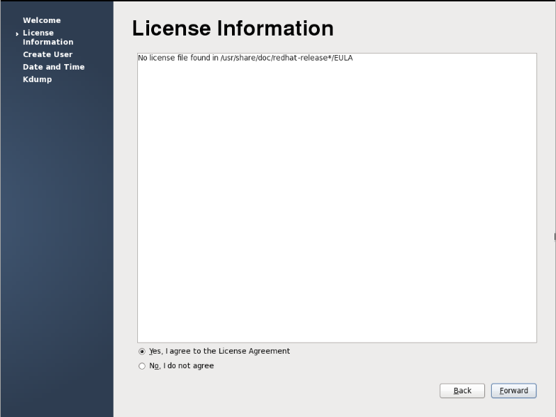firstboot license - we need to fix this!
