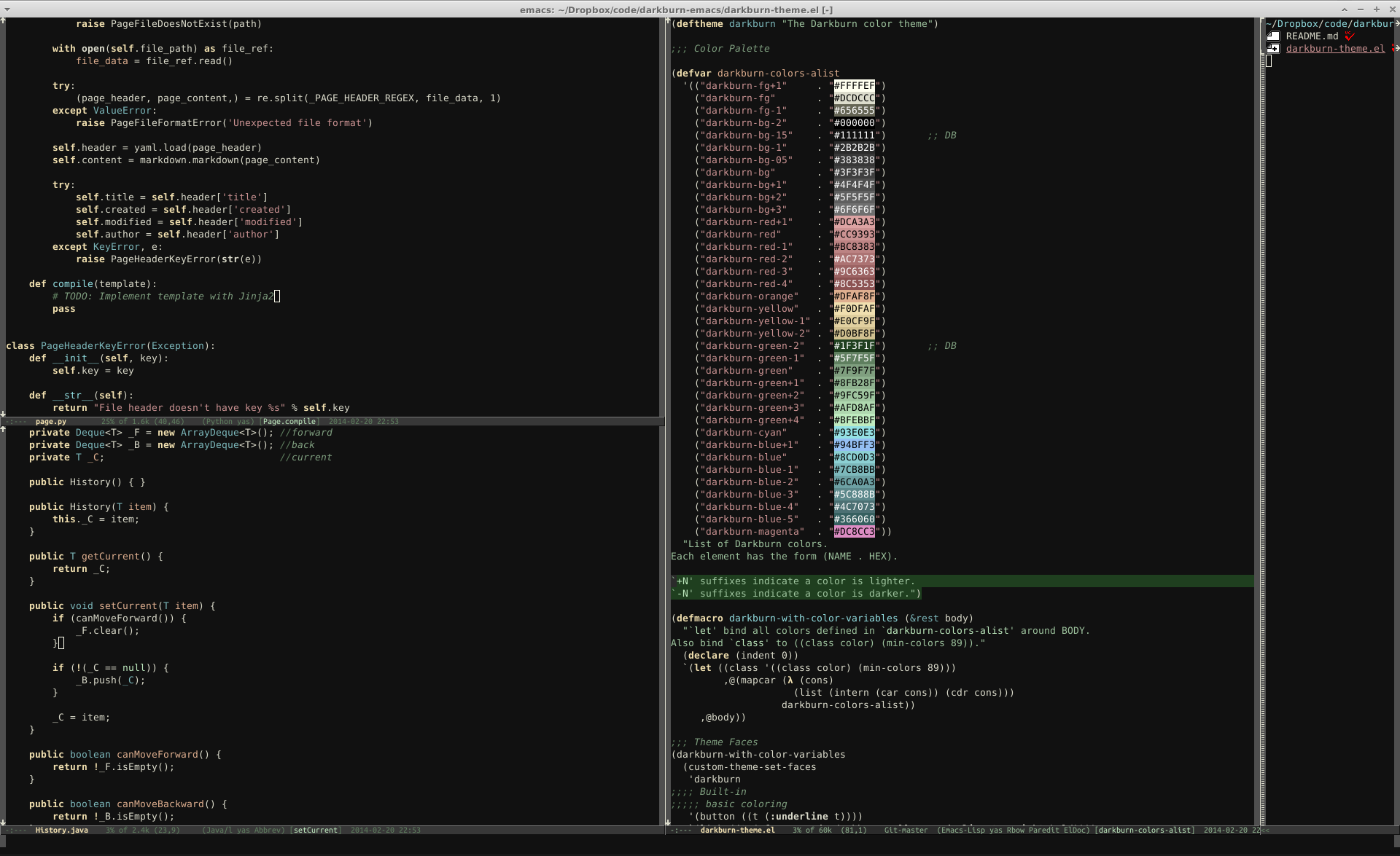 Emacs24-DarkBurnTheme.png