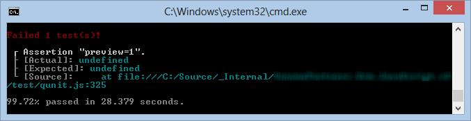 Failure Screenshot