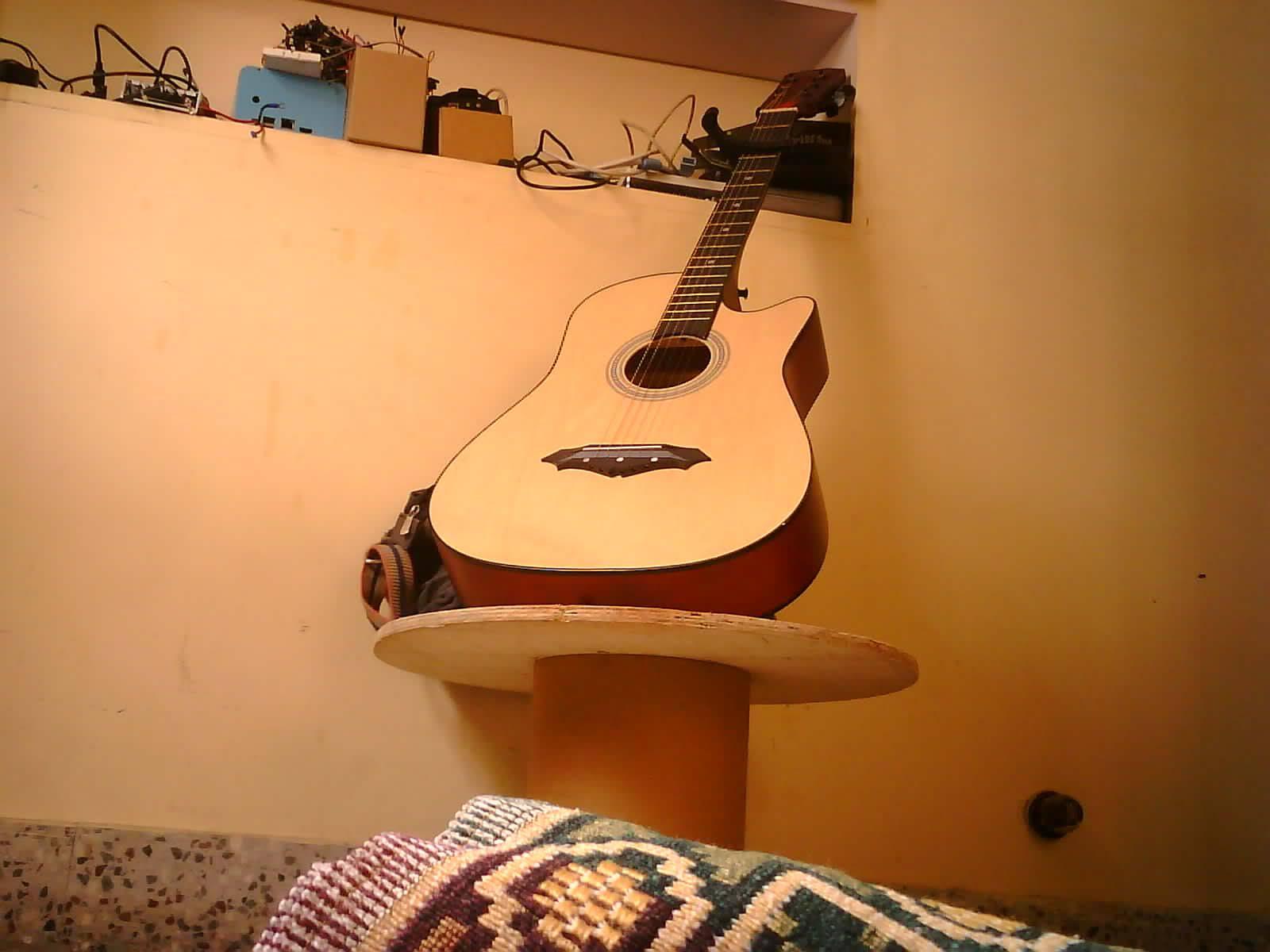 My guitar posing