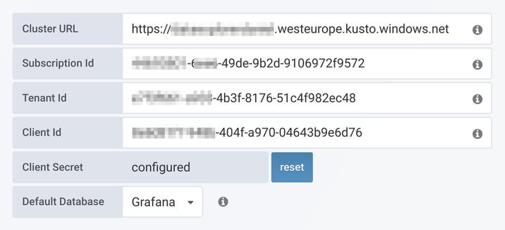 Azure Data Explorer API Details