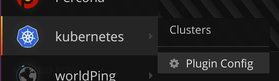 Cluster List in main menu