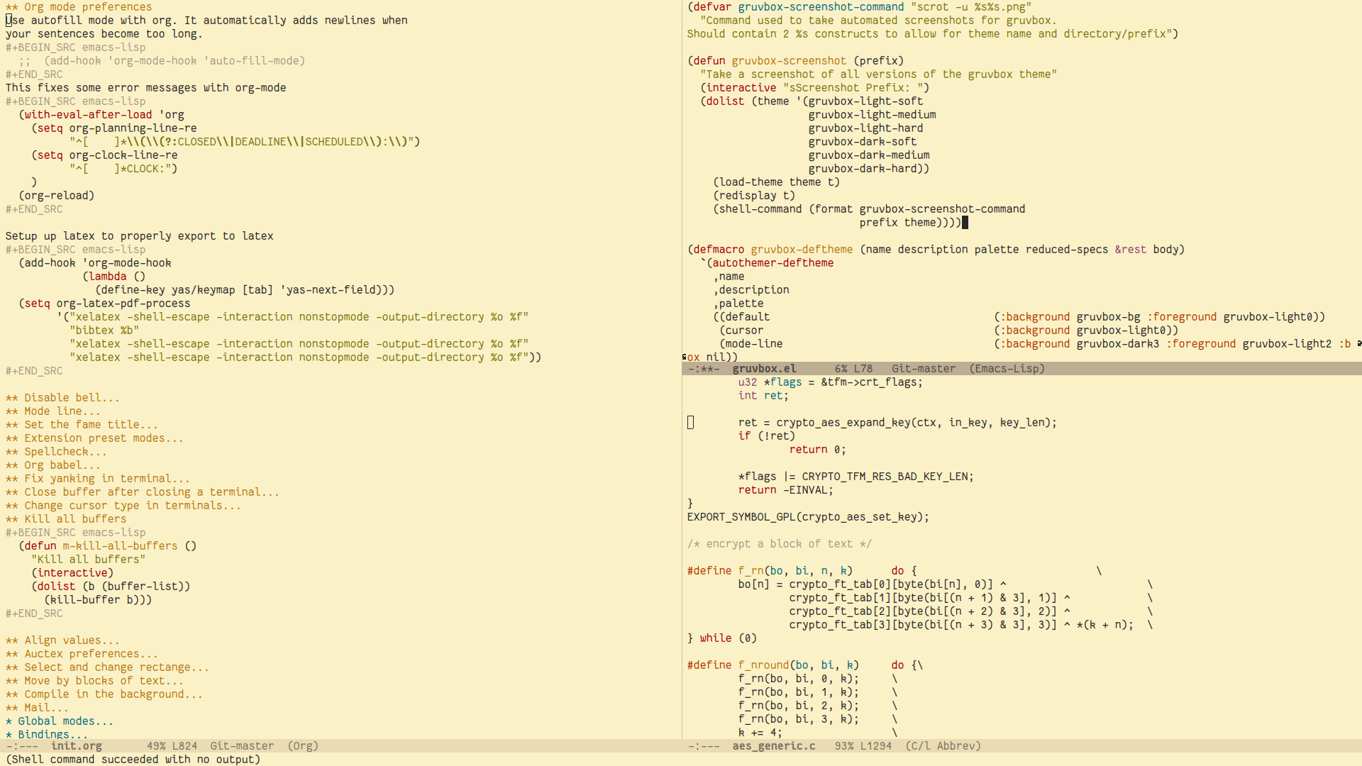 emacs-theme-gruvbox by greduan