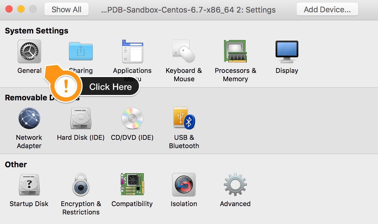 VMWare Fusion system settings
