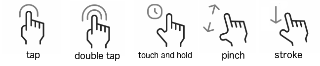 gestures to touch a phone