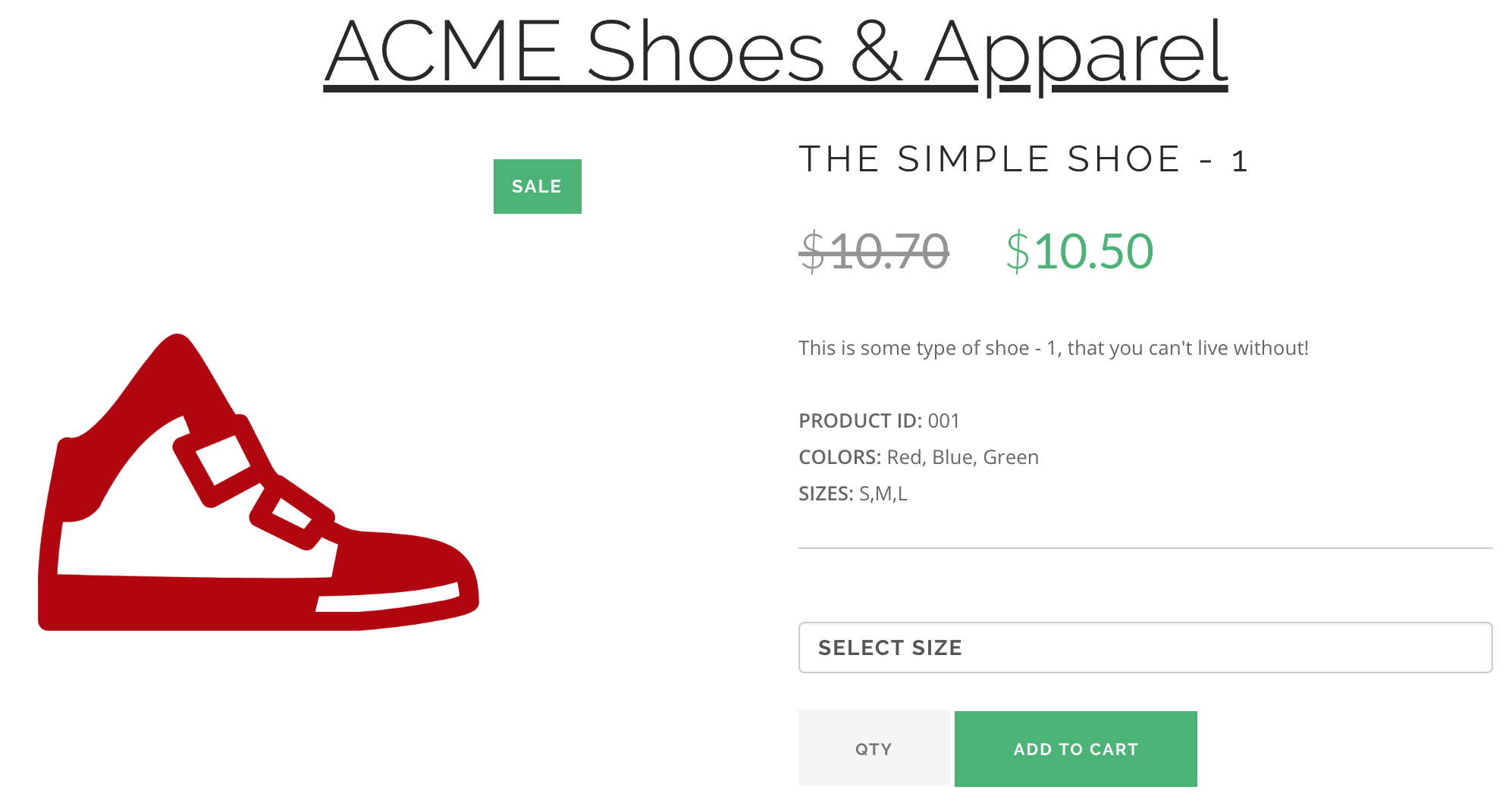 acme shoes pdp