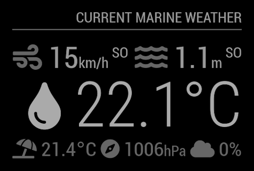 MMM-MarineWeather Screenshot #1