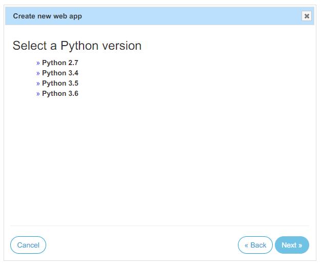 选择 Python 版本
