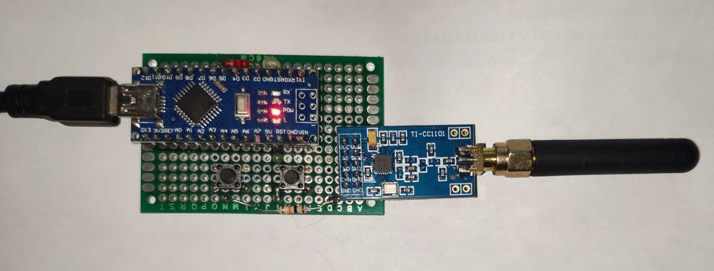 CC1101 remote control