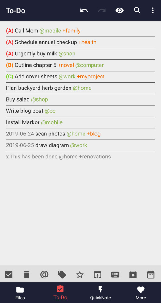Markor Android app - Markdown, todo txt - Notes, ToDo & Bookmarks