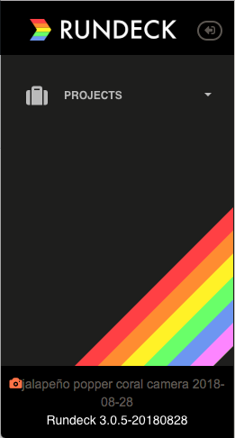 Rainbow Rundeck Sidebar