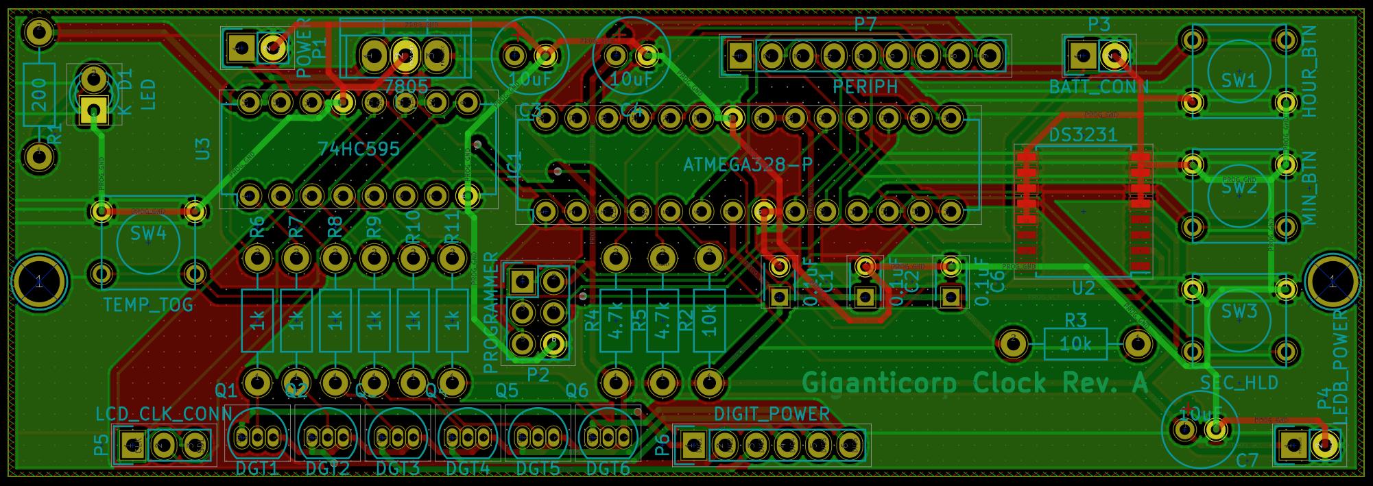 Clock Board PCB