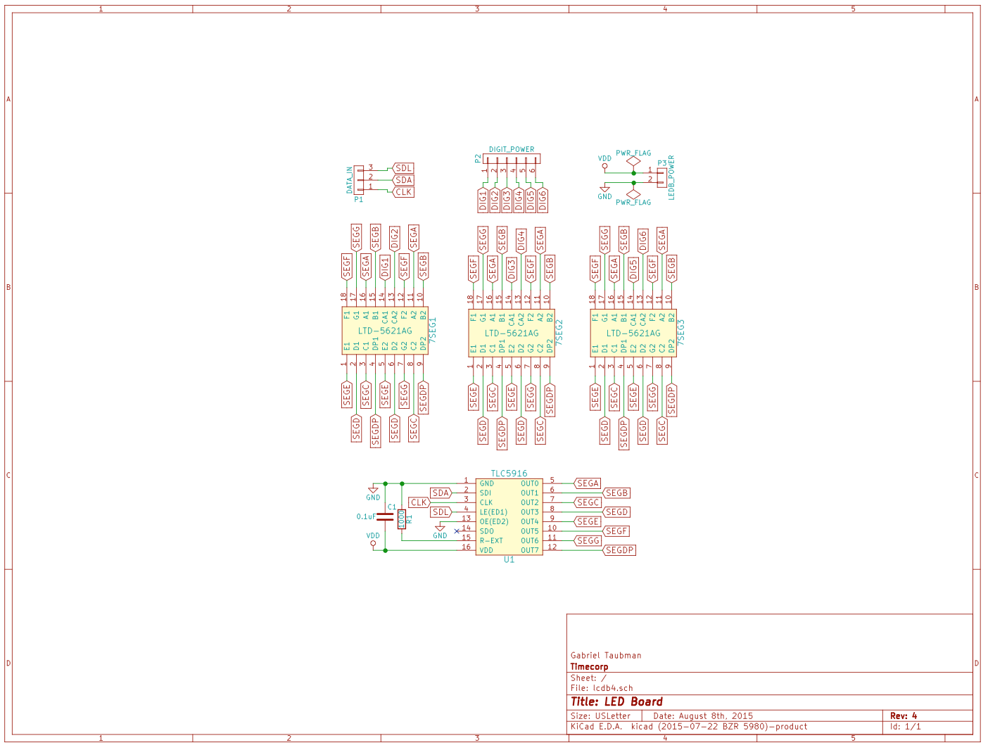 LED Board Schematic