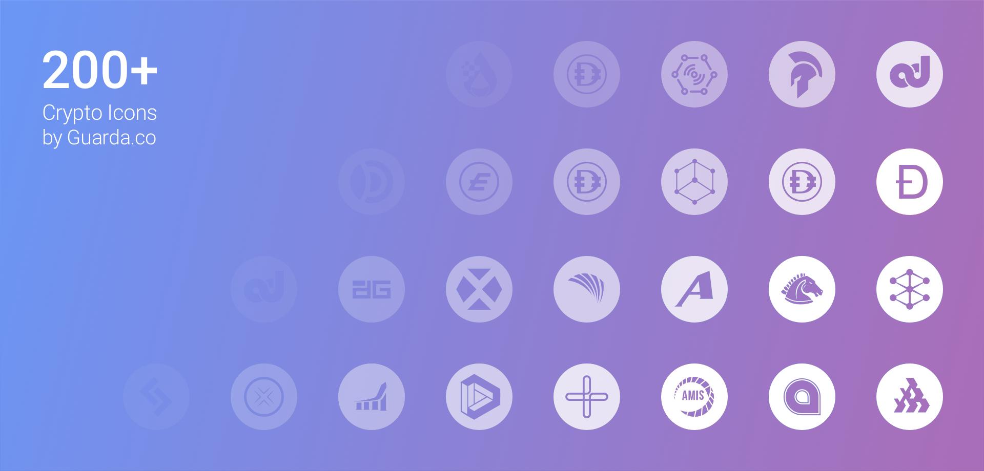 Guarda crypto icons