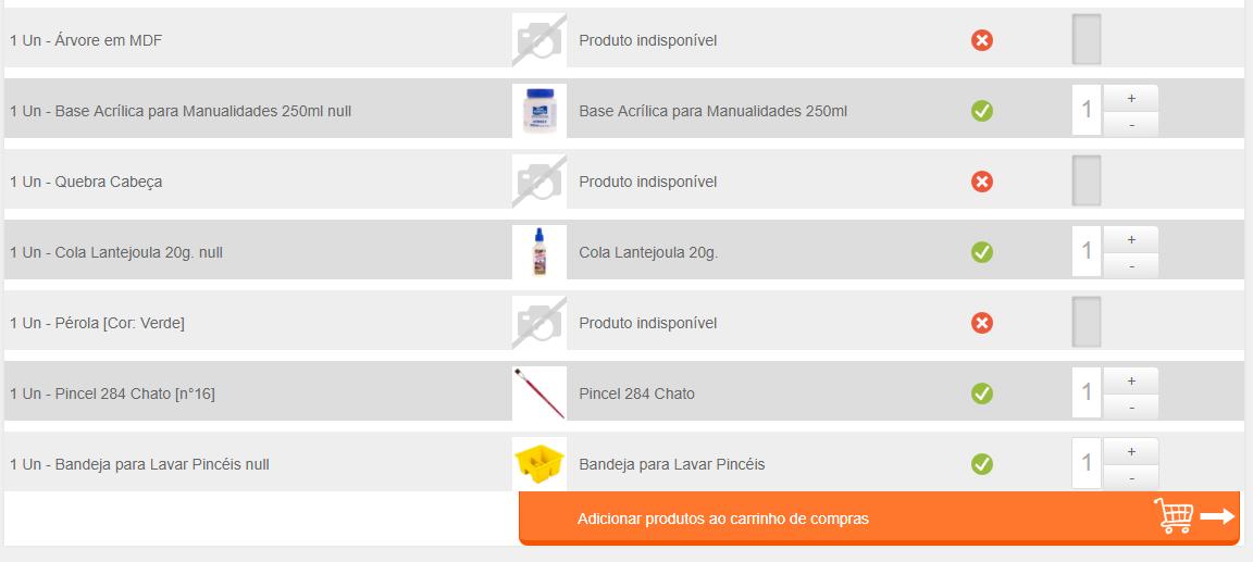 Lista de Compras no Canal do Artesanato