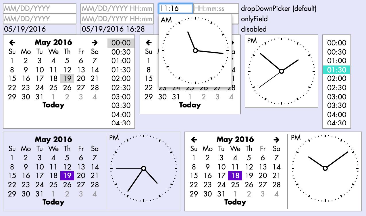 DateInput screenshots