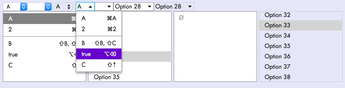 Select screenshots