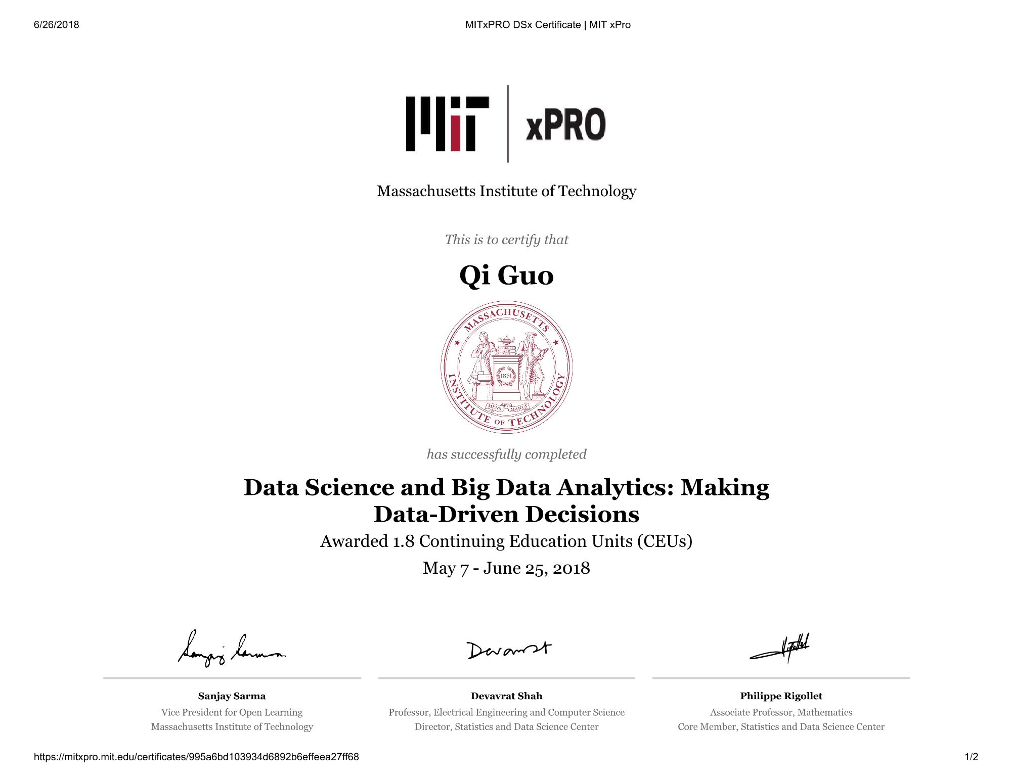 Github Guoqi228 Data Science And Data Driven Decisions Mit Xpro Data Science Course