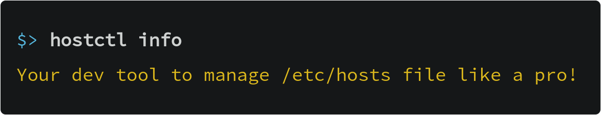 Your dev tool to manage /etc/hosts like a pro!