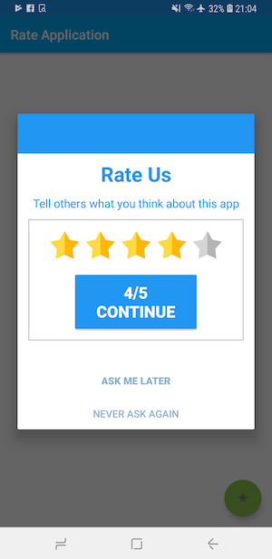Android Smart Rate Us Dialog