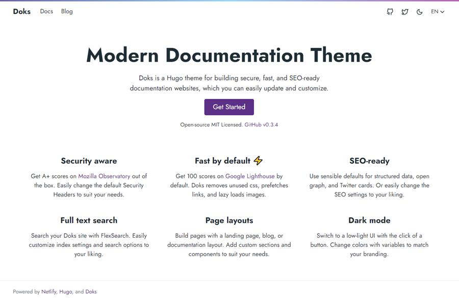 Doks — Modern Documentation Theme