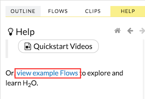 Flow - View Example Flows link