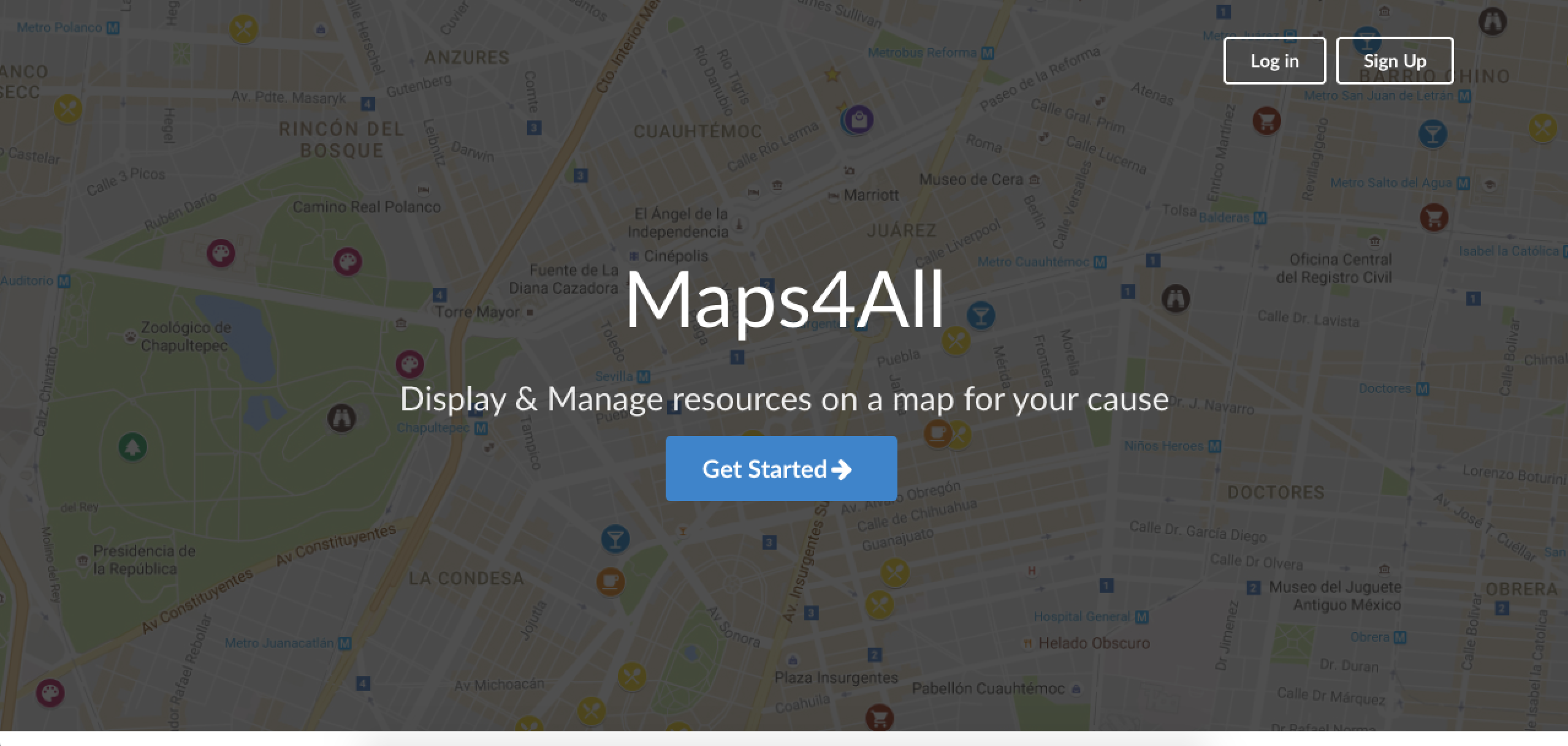 Maps4All Signup 1