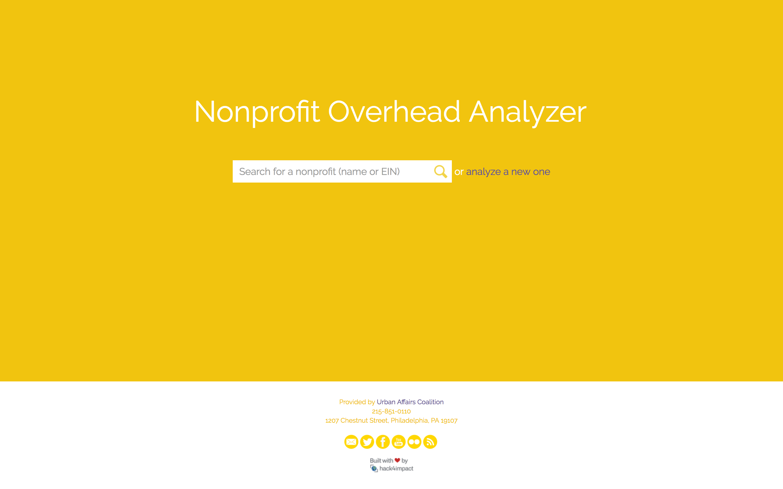 Nonprofit search page