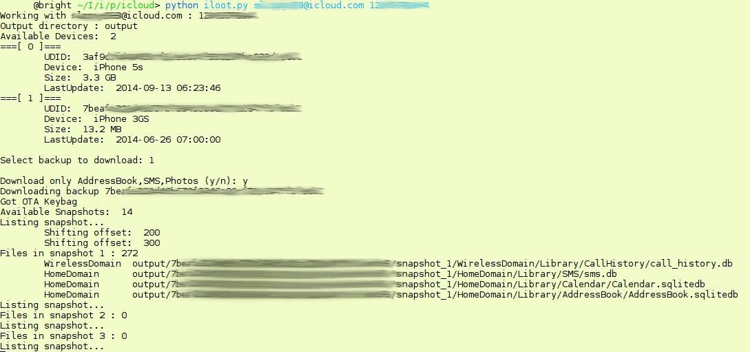 GitHub - hackappcom/iloot: OpenSource tool for iCloud backup