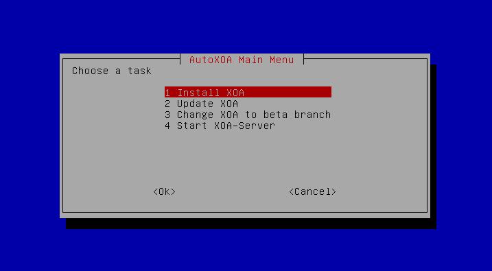 AutoXOA Install Menu