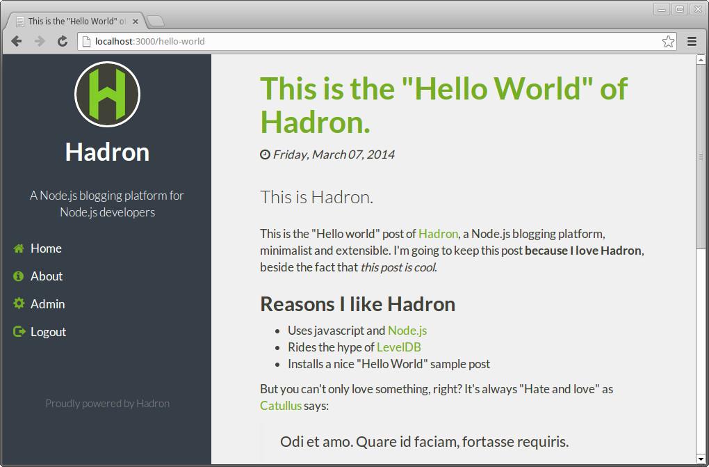 Hadron homepage