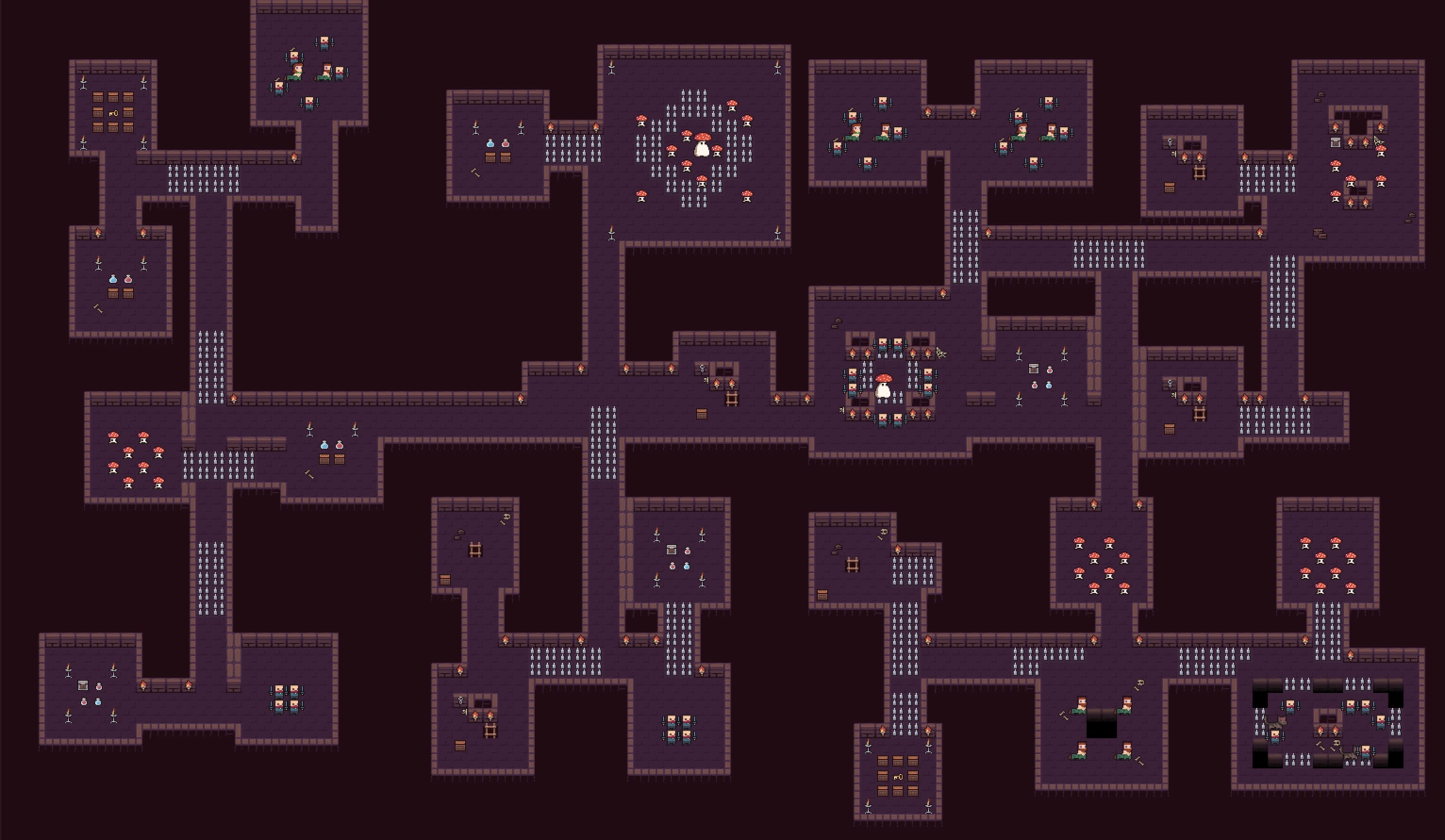 Screenshot of a generated dungeon