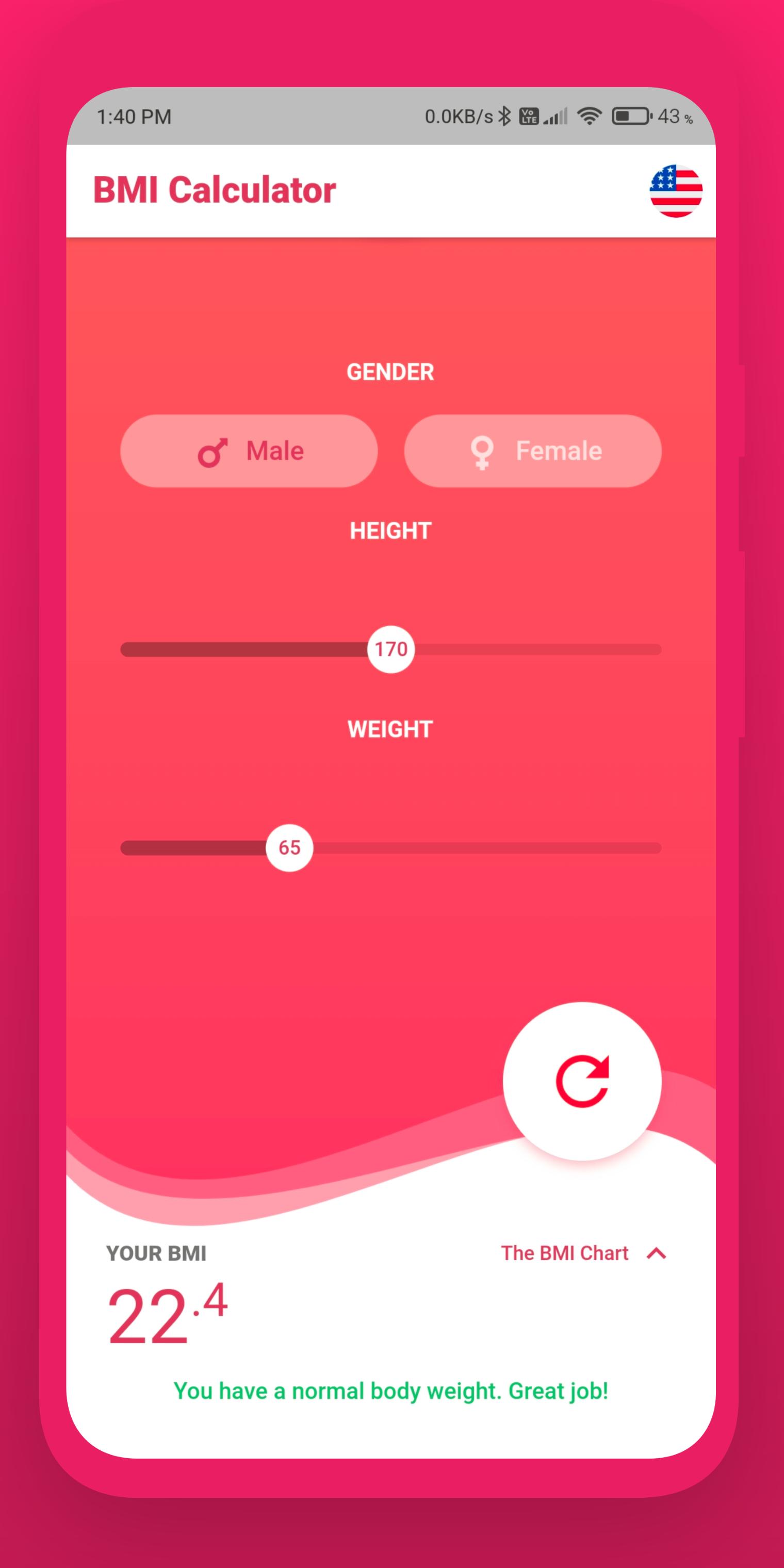 BMI Calculator Flutter