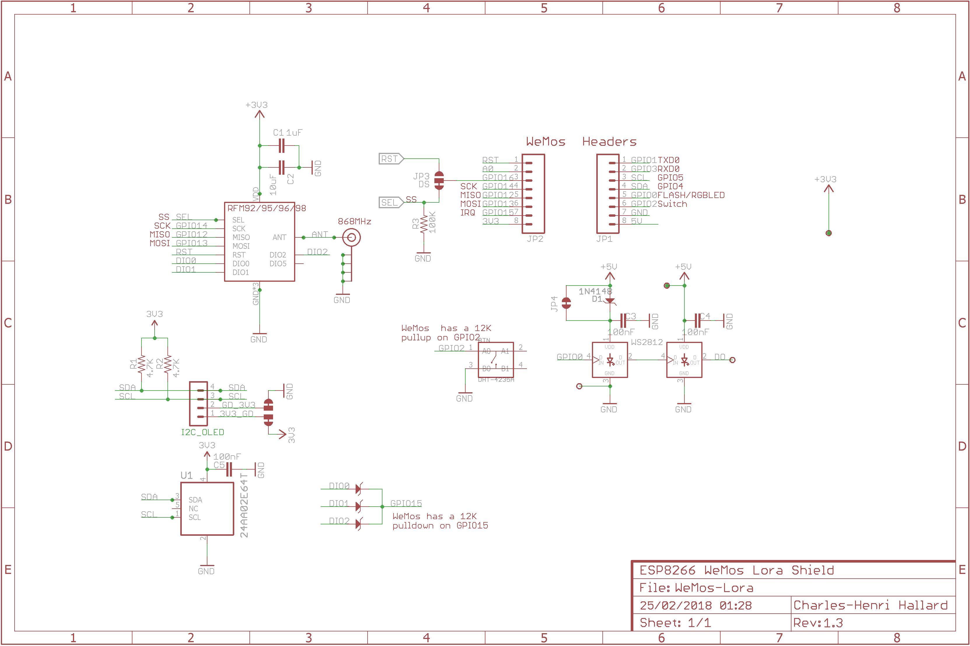 Github Hallard Wemos Lora Esp8266 Shield For Hoperf Rfm95 Rover Mini Spi Wiring Diagram Schematic