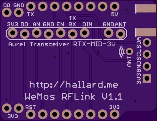 GitHub - hallard/WeMos-RFLink: ESP8266 WeMos Shield for RFLink + OLED