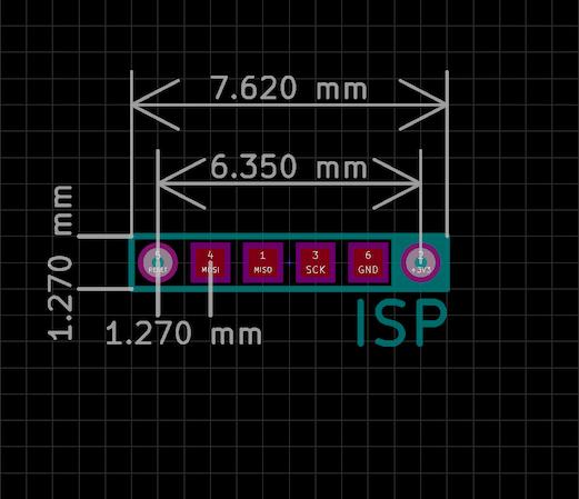 POGO ISP Micro KiCad footprint specs