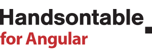 handsontable/angular - npm