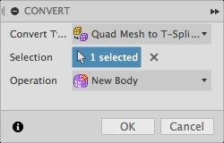 Convert Mesh Dialog