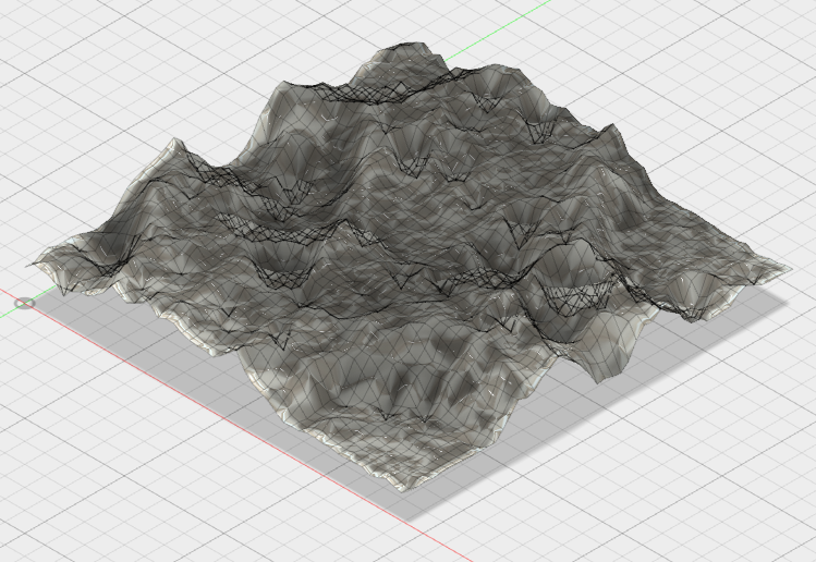 Moon - Mesh generated from Image2Surface