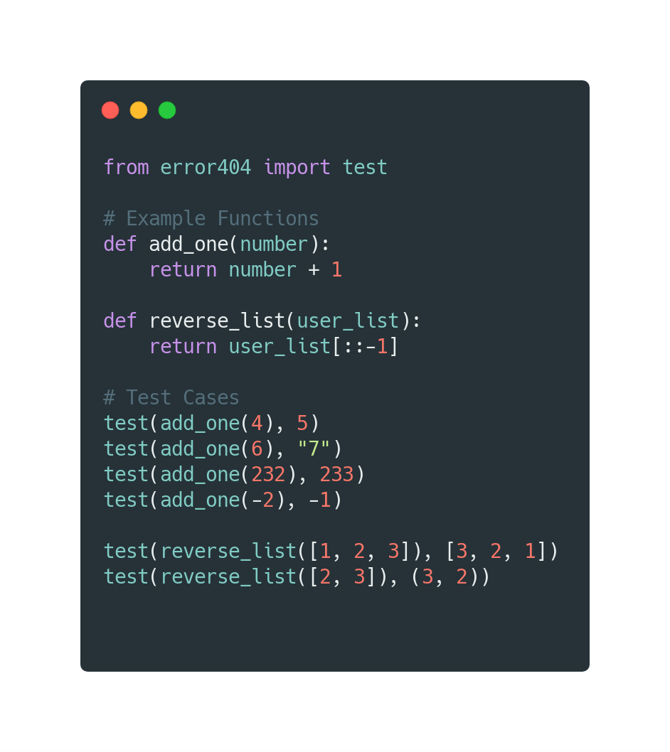 Example 1 Code