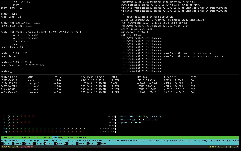 Hadoop cluster image