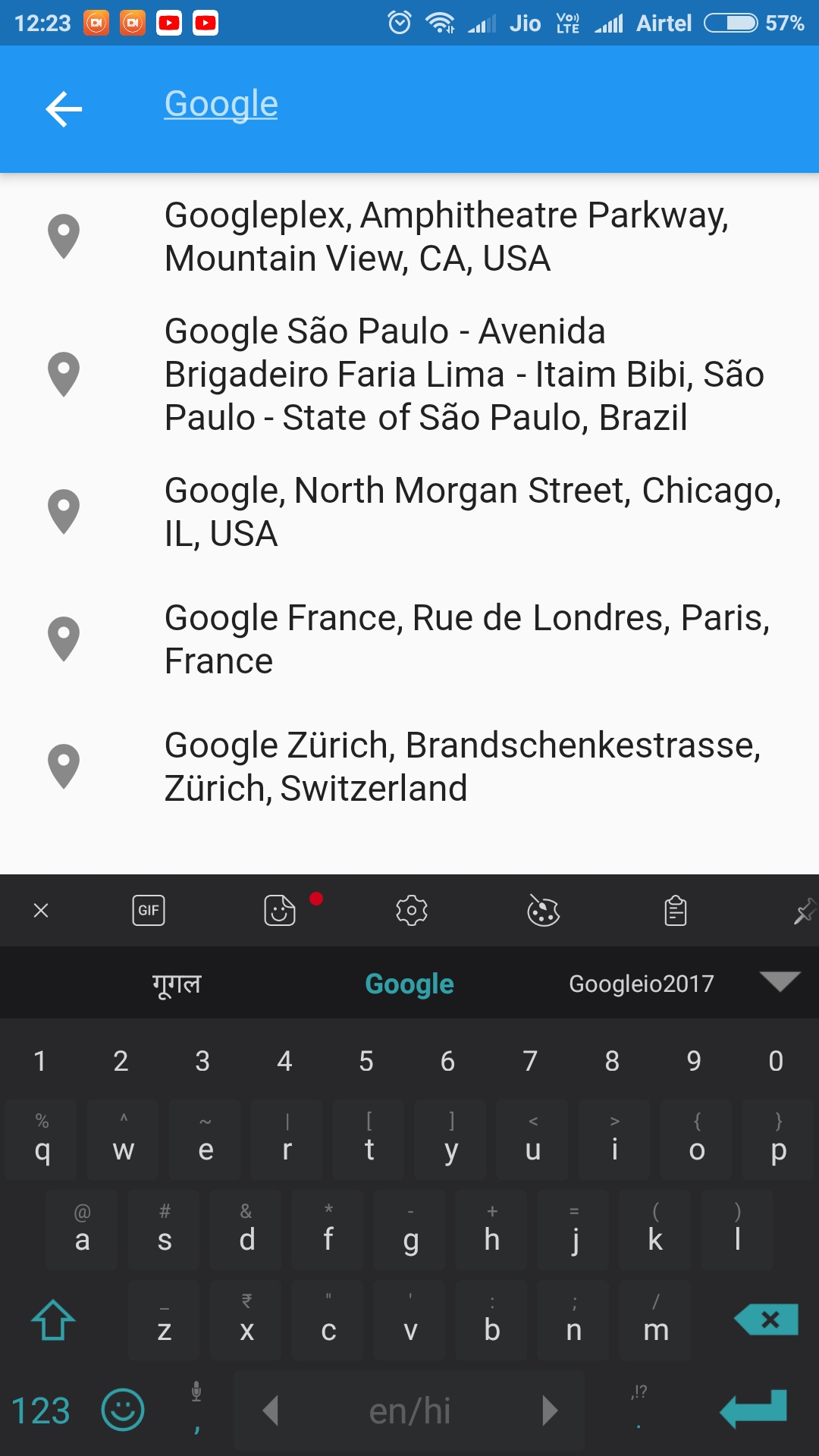 Google Place Search