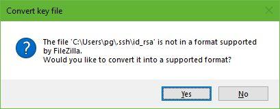 Cara Setting SFTP Pada Droplet VPS DigitalOcean-FileZilla Convert Format id_rsa Ke Format id_rsa.ppk