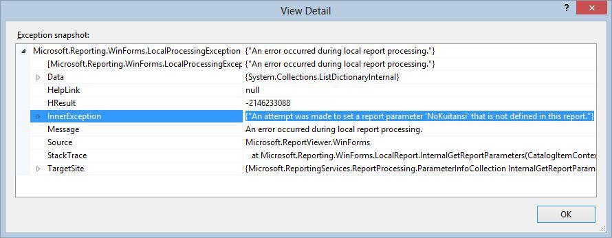 ReportViewer error SetParameter ketika menggunakan Dynamic Report