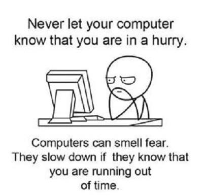 Computer Hang waktu kejar deadline