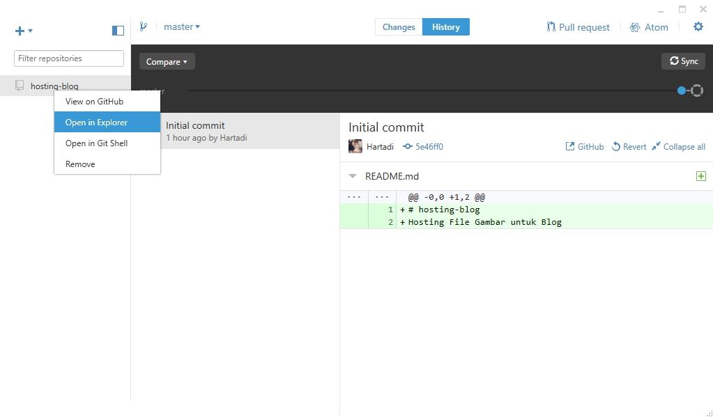 GitHub - Open in Explorer