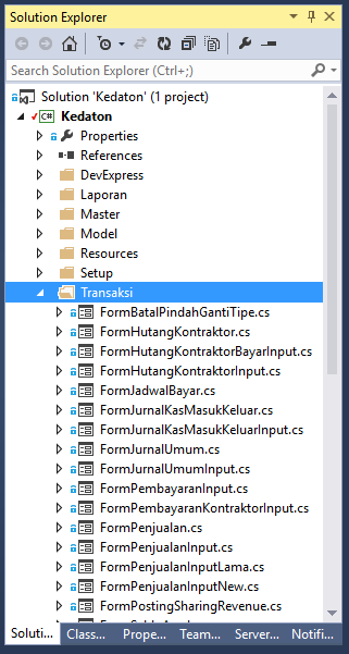 File Nested Kembali di Solution Explorer Visual Studio