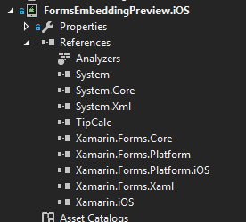 iOS project references
